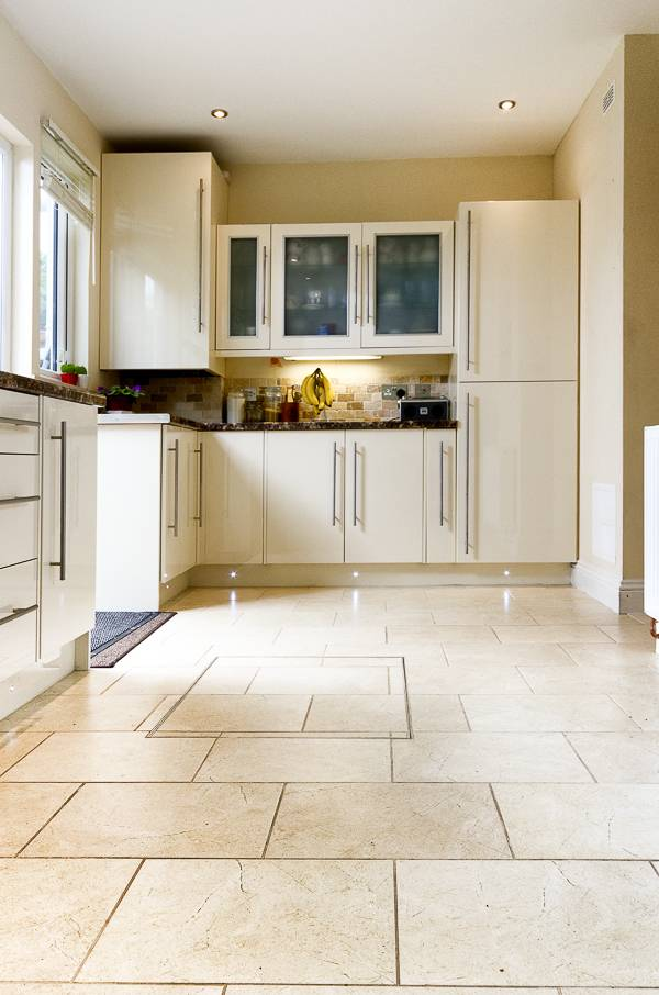Built-in kitchen floor tiling kitchen fitters North London North London Builders Nesting Properties